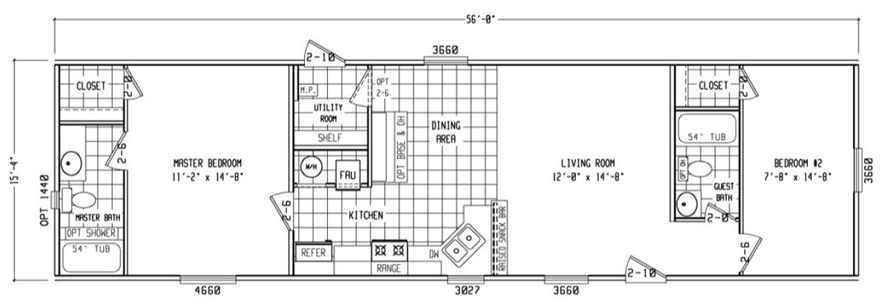 Bracken mobile home floor plan single wide